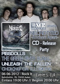Flyer - Necrotted - 'Anchors Apart' CD-Release Party