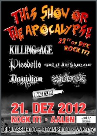 Flyer - Killing Age + Pissdolls + Spirit Of The Future Sun + Davidian + The Bloodshot Eyes + DCIM