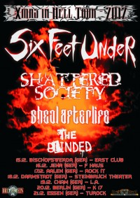 Flyer - SIX FEET UNDER + Goddamn + Shattered Society