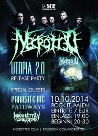 Flyer - NECROTTED 'Utopia 2.0' CD-Release Party