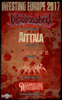 Flyer - Bloodsoaked, Aittala, Greves, Unexplainable & more