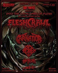 Flyer - Album release show Into The Catacombs Of Flesh